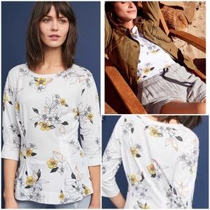 39062aecea Anthropologie Tops - Anthropologie Rooney Printed Tee Cotton NWT Floral